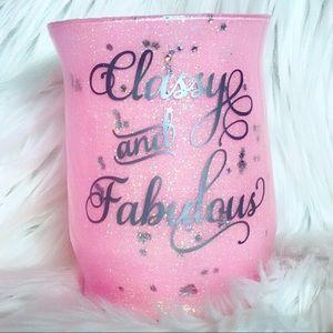 Classy and Fabulous brush holder or vase